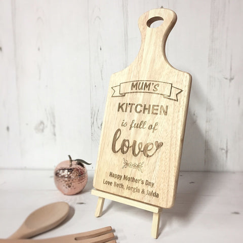 NEW Mum's Kitchen Engraved Board