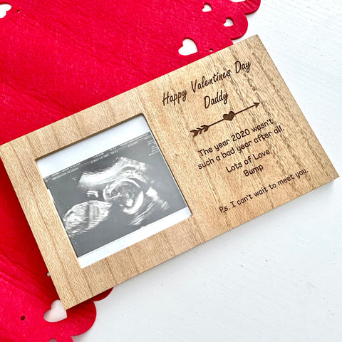 Expectant Parent Valentines Photo Frame