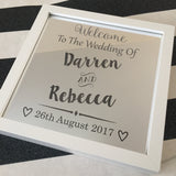 """Welcome to the Wedding"" Light Up Box Frame"