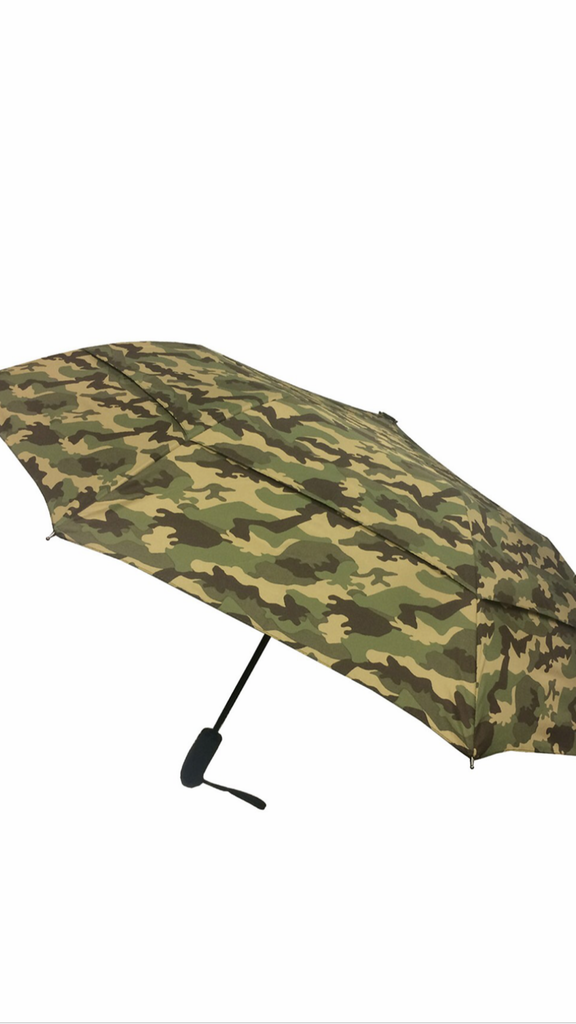 London Fog 46 in. Arc Windguard Auto Open Auto Close Sport Umbrella in Camo