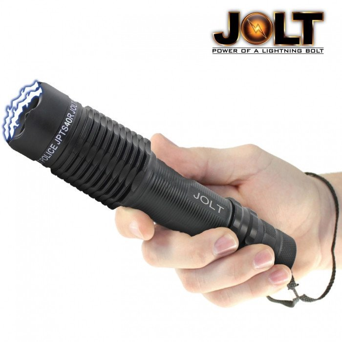 JOLT Police 40,000,000 Volt Tactical Flashlight Stun Gun