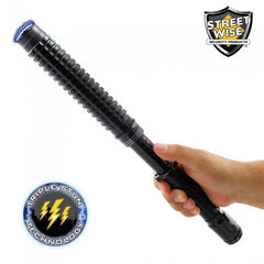 Stun Baton - Streetwise Attitude Adjuster 13,000,000 Volt Expandable Stun Baton with Flashlight