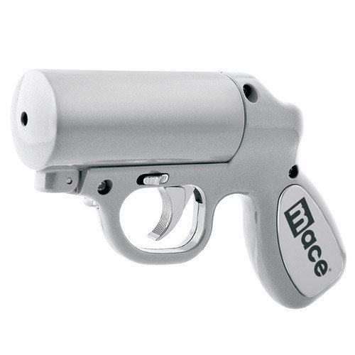 Mace Pepper Spray - Mace Silver Pepper Spray Gun With Strobe LED