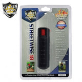 Pepper Spray: Streetwise 18 - Lab Certified Streetwise 18 Pepper Spray 1/2 Oz In Black Hard Case