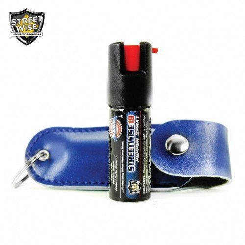 Pepper Spray: Streetwise 18 - Lab Certified Streetwise 18 Pepper Spray 1/2 Oz In Blue Soft Case
