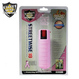 Pepper Spray: Streetwise 18 - Lab Certified Streetwise 18 Pepper Spray 1/2 Oz In Pink Hard Case