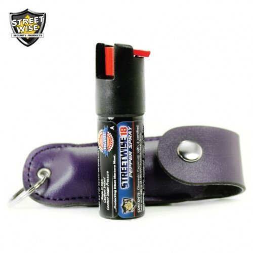 Pepper Spray: Streetwise 18 - Lab Certified Streetwise 18 Pepper Spray 1/2 Oz In Purple Soft Case