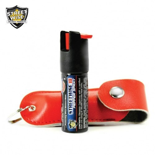 Pepper Spray: Streetwise 18 - Lab Certified Streetwise 18 Pepper Spray 1/2 Oz In Red Soft Case