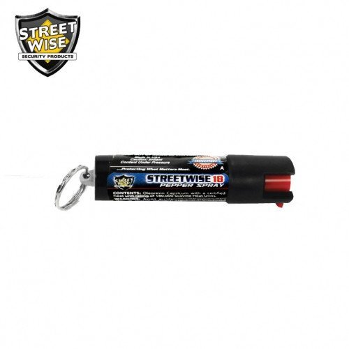 Pepper Spray: Streetwise 18 - Lab Certified Streetwise 18 Pepper Spray 1/2 Oz Safety Lock Key Ring