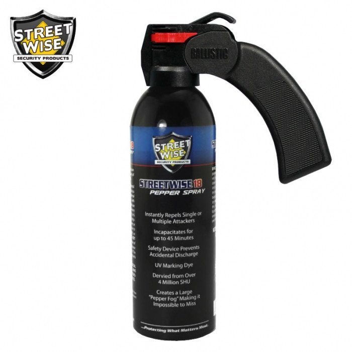 Pepper Spray: Streetwise 18 - Lab Certified Streetwise 18 Pepper Spray 16 Oz. Pistol Grip