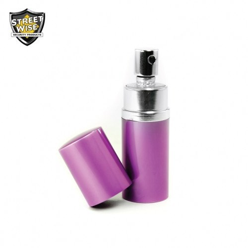 Pepper Spray: Streetwise 18 - Lab Certified SW 18 3/4 Oz Purple Round Perfume Pepper Spray