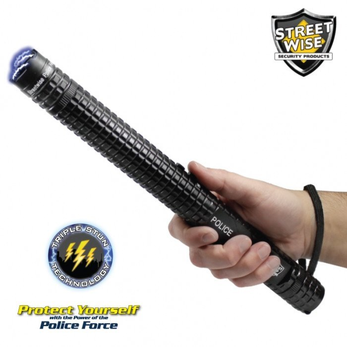 Police Force 12,000,000 Volt Tactical Stun Baton Flashlight