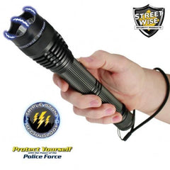 Rechargeable Flashlight Stun Gun - Police Force 8,000,000 Volt Tactical Stun Flashlight