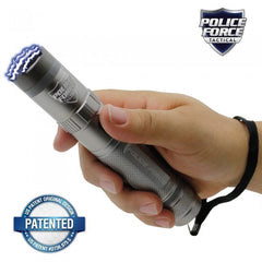 Rechargeable Flashlight Stun Gun - Police Force 9,200,000 Volt Gun Metal Tactical Stun Flashlight