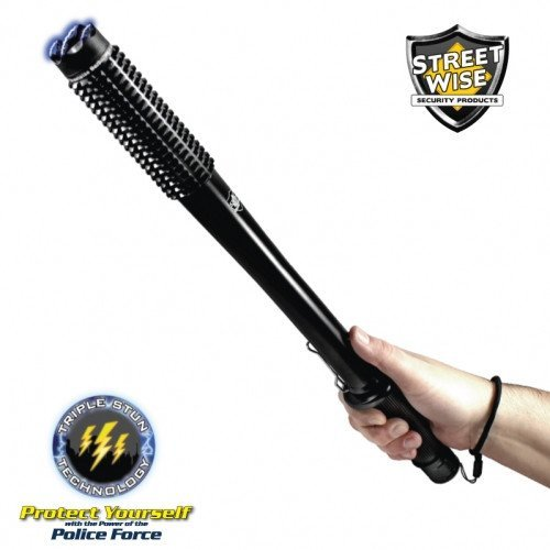 Flashlight Stun Baton - Streetwise Barbarian 9,000,000 Volt Stun Baton with Flashlight