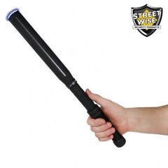 Rechargeable Flashlight Stun Baton - Streetwise Lightning Rod 7,000,000 Volt Stun Baton