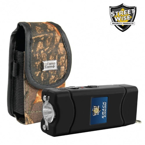 SMACK 6,000,000 Volt Stun Gun Black with Deluxe Holster