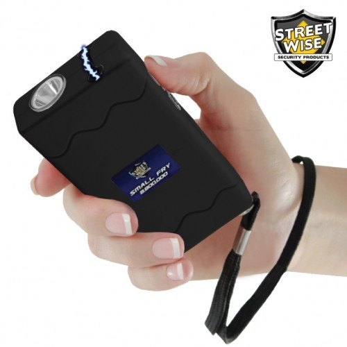 Small Fry 8,800,000 Volt Black Stun Gun Flashlight