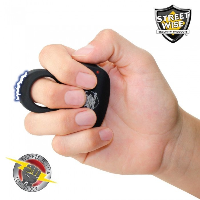 Streetwise Sting Ring 18mm Volt Stun Gun in Black