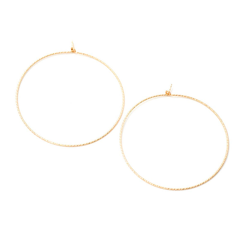 Gold Sparkle Hoops - Mint Pop Shop