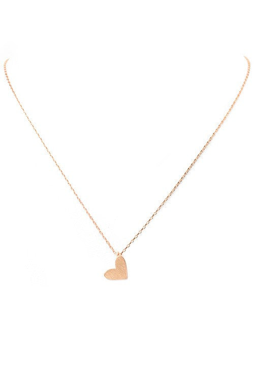 Rose Gold Mini Heart Necklace - Mint Pop Shop