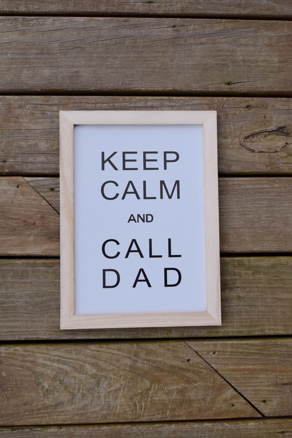 Keep Calm and Call Dad Wall Art - Mint Pop Shop