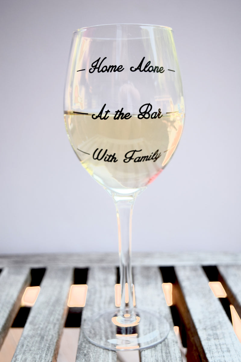 """Wine Not?"" Wine Glass - Mint Pop Shop"