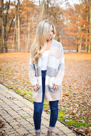 Plush Blanket Jacket - Beige