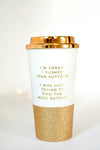Mute Button Travel Cup - Mint Pop Shop