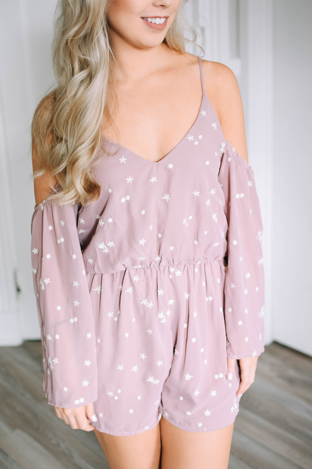 Starry Romper - Mauve - Mint Pop Shop