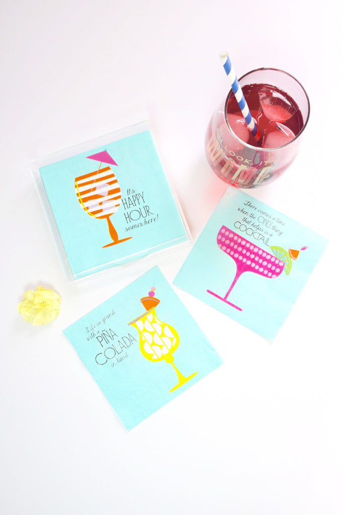 Happy Hour Cocktail Napkins - Mint Pop Shop