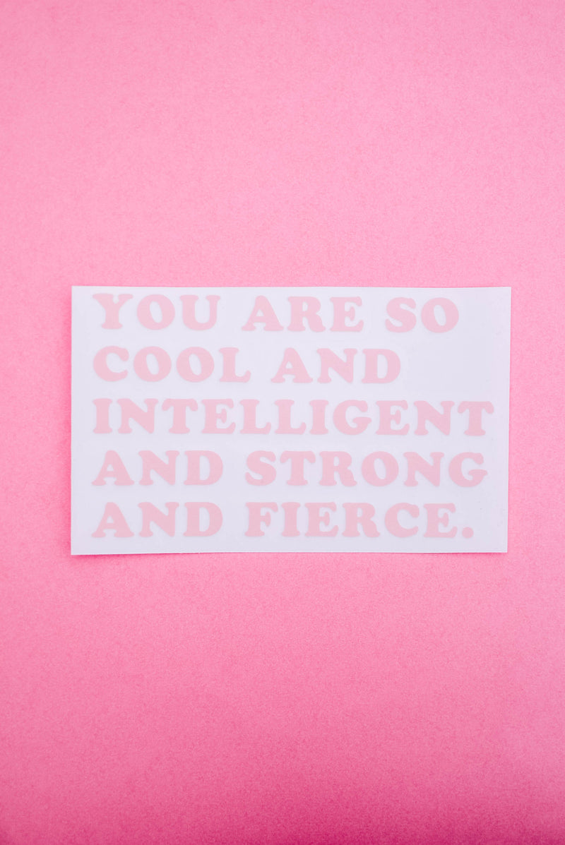 You Are Fierce Mirror Decal