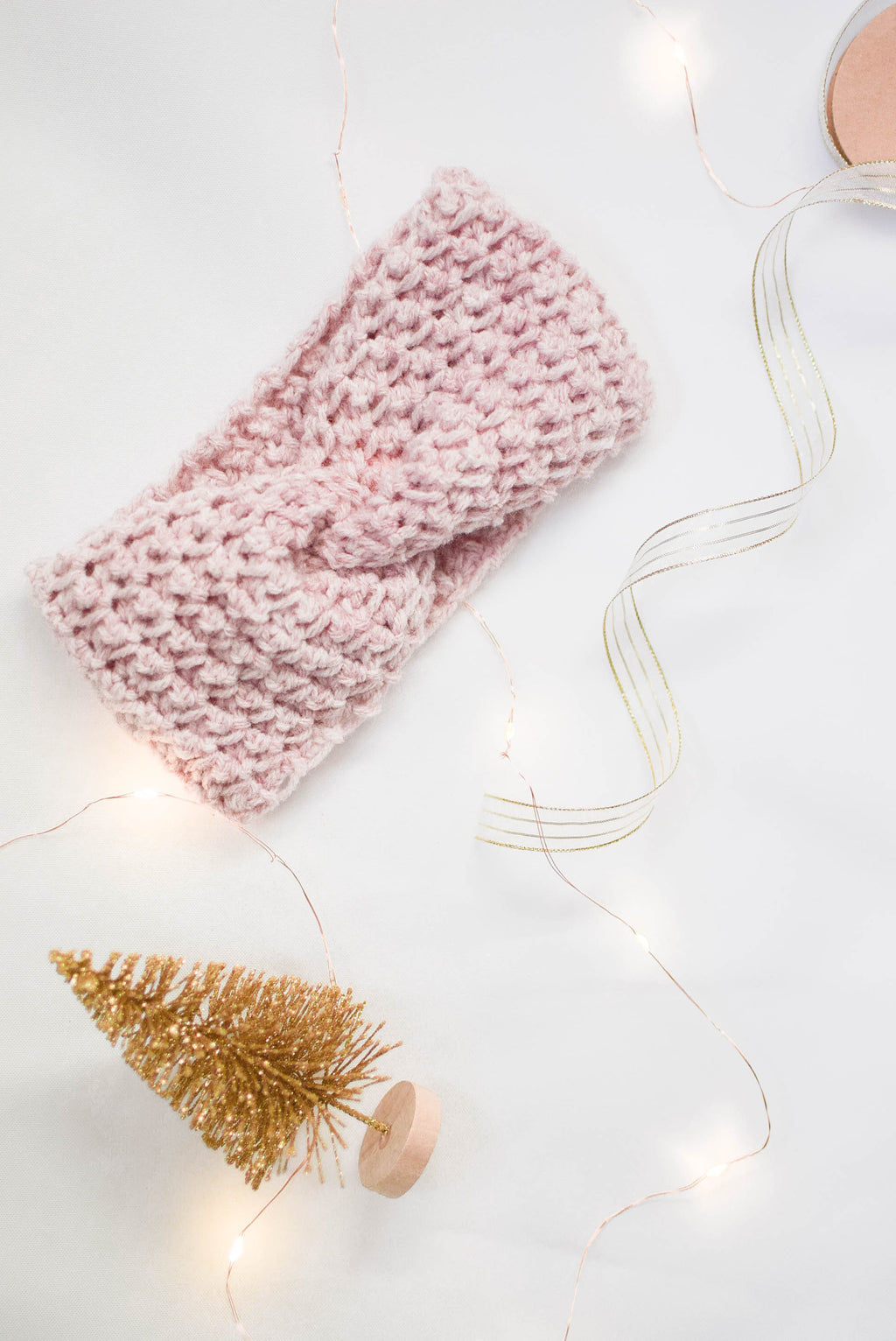 Crochet Headband - Blush Heather