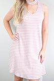 Rose Striped Dress
