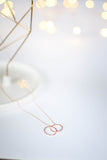 Interlocking Ring Necklace - Rose Gold - Mint Pop Shop