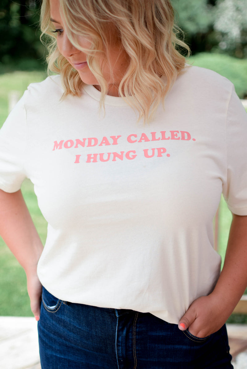 Monday Called T-Shirt - Mint Pop Shop