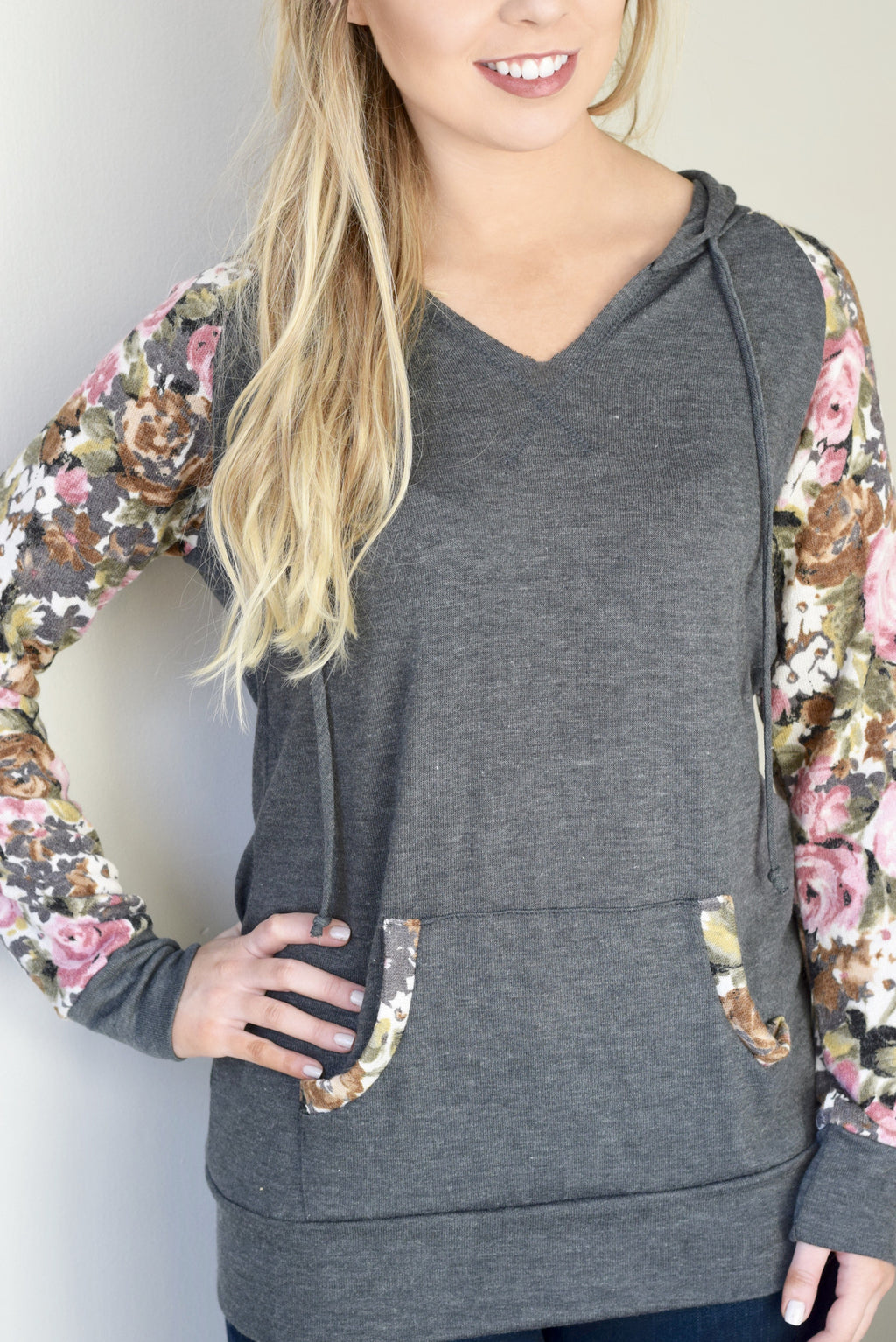 Floral Pop Hoodie - Mint Pop Shop