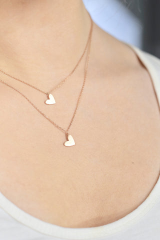 Silver Mini Heart Necklace