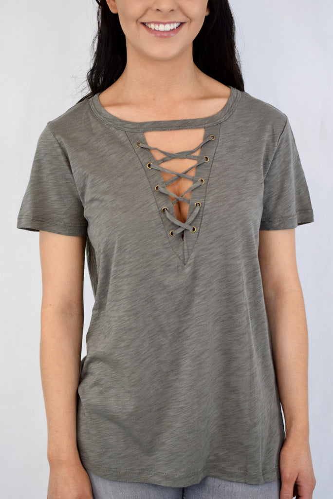 The Clare Top - Olive