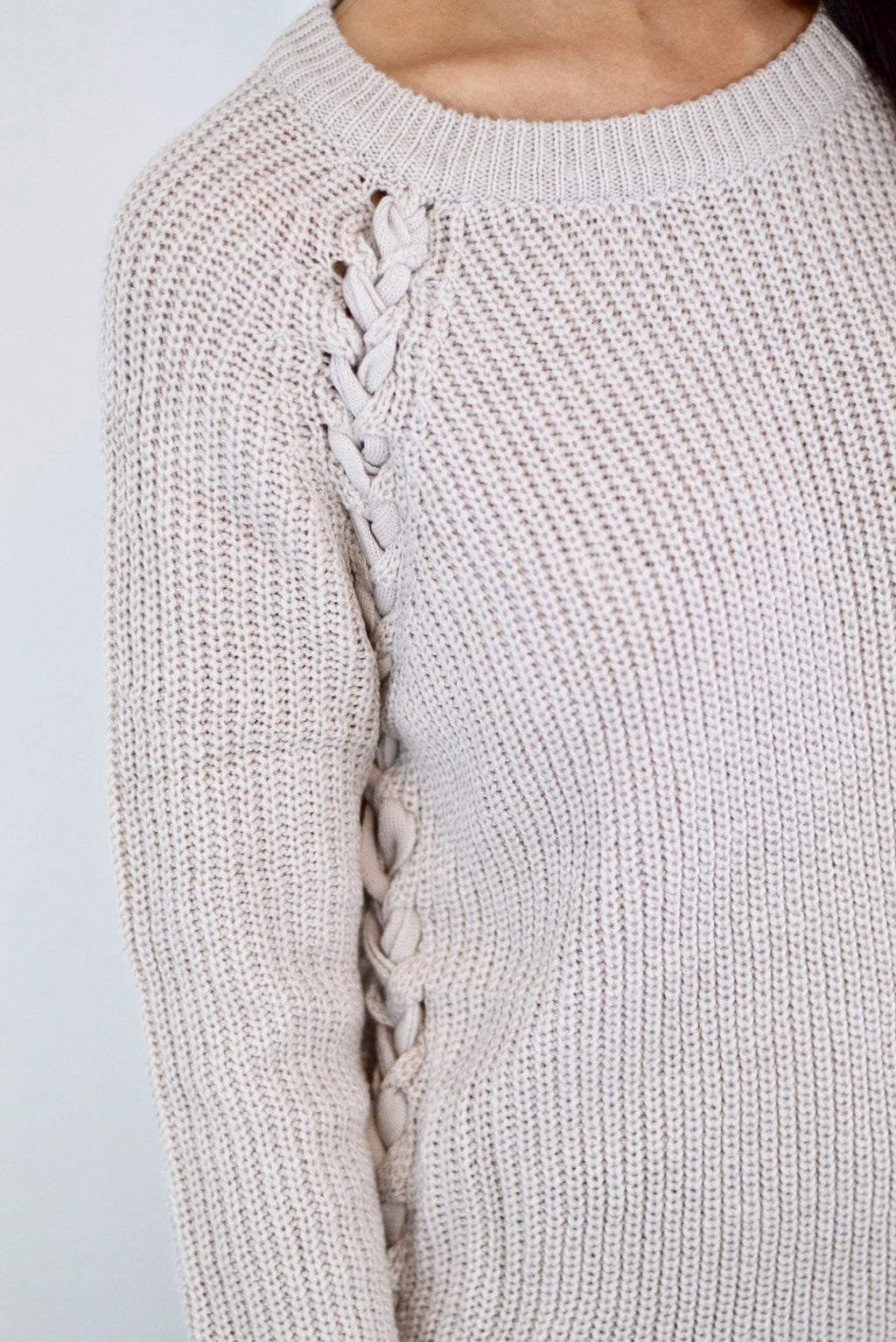 Tied Up Sweater - Mint Pop Shop