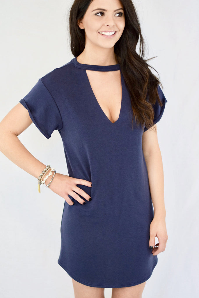 The Kristen Mock Neck Dress