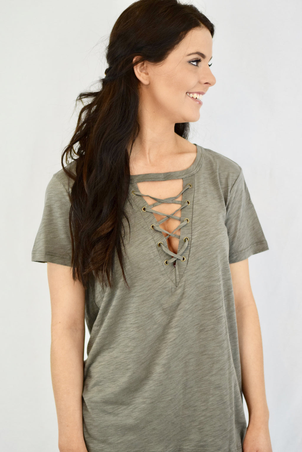 The Clare Top - Olive - Mint Pop Shop