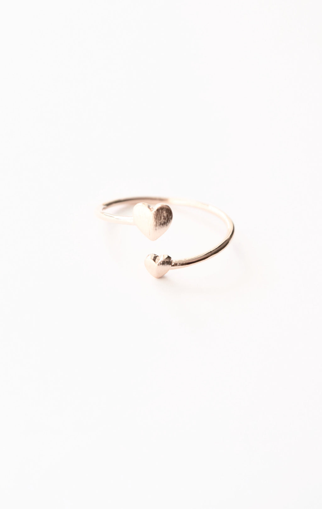 Double Heart Ring - Rose Gold - Mint Pop Shop