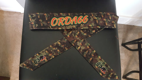 Orda66paintball OCD Fearless Headbands- Rasta
