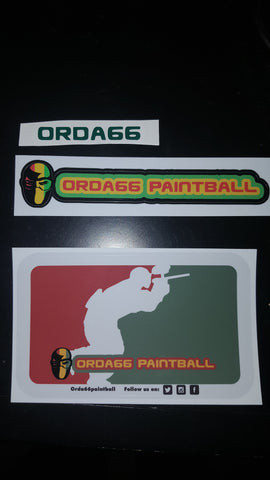 3 pk Orda66paintball stickers