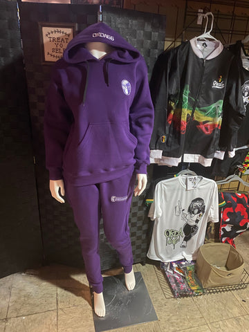 Rude Gyal Collection- Hoodies/ Sweatpants -Purple