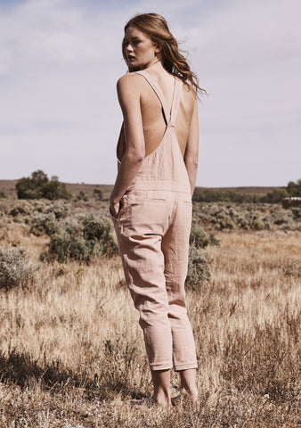 Lucy Overalls Blush