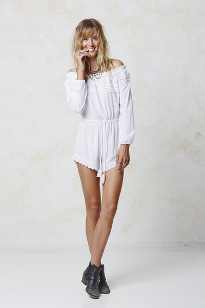 Pretty Lady Playsuit - White