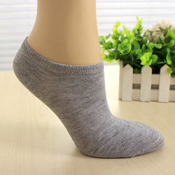 Cotton Color Women Short Ankle Boat Low Cut Sport Socks Crew Casual - 7 Colors - Dopy - 1