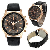 Designer Leather Quartz Watch